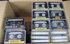 132 Audiokassetten Maxell Tapedeck Musik Cassetten, bespielt MCs Kassette 90