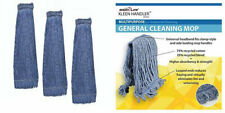 Heavy Duty Commercial Mop Head Replacement Wet Industrial Cotton Loo 3 Pack