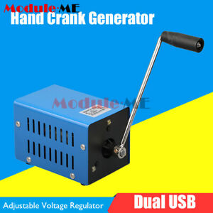 20W Hand Manual Crank Emergency Power Generator Electric USB Charger Portable