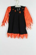Girl's Halloween Infants Black Orange Spider Web Witch  1 - 2 years  (9) costume