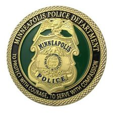 U.S. United States | Minneapolis Police Department | Gold Plated Challenge Coin
