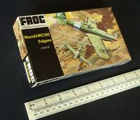 Macchi MC202 Folgore Italian WW2 Fighter.1:72 Vintage 1960s Frog Kit. Black Box
