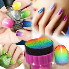 1set Nail Art Sponge Stamp Stamping Polish Template Transfer Manicure Tools DIY