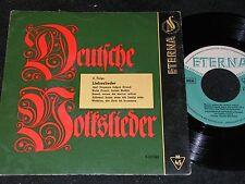 DEUTSCHE VOLKSLIEDER II Liebeslieder Volksliedquartett / DDR SP'58 ETERNA 530042