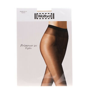 WOLFORD Primrose 20 DEN Shimmer Sheer Everyday Tights Size XL Soft Waistband