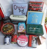 Joblot Of Vintage & collectable  Food And Drinks Tins Advertising storage tins