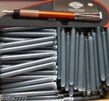 30 ink cartridges, refills for WATERMAN Harley Davidson Fountain Pen in BLACK