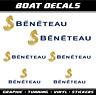 Beneteau aufkleber sticker boat 6x Segelboot Bootsaufkleber Wassersport Segel