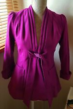 Ted Baker purple wool and cashmere jacket size 0