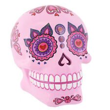 Mexican Skull Money Box Day Of The Dead Candy Design Bright Pink
