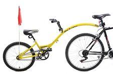 "Ammaco Tagalong Towaway Tandem Kids Folding Trailer Bike 20"" Wheel Yellow 5+"