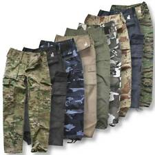Mens Army Cargo Camo Hiking Combat Trousers Work Military Pants Tactical Cargo