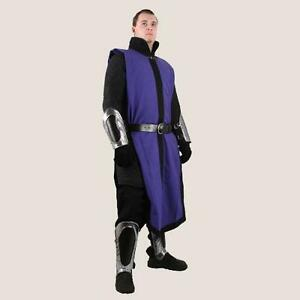 MEDIEVAL KNIGHT FANTASY Black Ice CONQUEST Blue Black TABBARD TUNIC and BELT OS