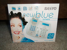 SANYO Cordless Telephone Caller ID CLT-2413 New (Old Stock) new blue -Brilliant
