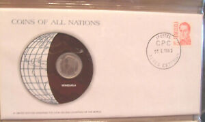 Coins of All Nations Venezuela 1 Bolivar 1977 UNC