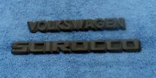 VOLKSWAGON & SCIROCCO TRUNK EMBLEMS OEM (2 PIECES)