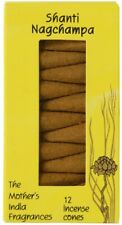 Shanti Nag Champa, Mother's India Fragrances 12 Cones