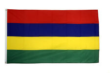 Mauritius Large Flag 5 x 3 FT - 100% Polyester With Eyelets National Country