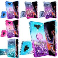 For Samsung Galaxy Note 9 Hybrid Luxury Liquid Bling Glitter Phone Case Cover