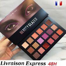 Palette fards à paupières maquillage make up mat paillettes 18 couleurs ss 48H