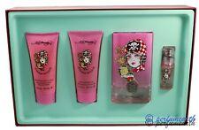 BORN & WILD BY ED HARDY 4 PIECES GIFT SET 3.4/3.3 OZ  FOR WOMEN NEW IN GIFT SET