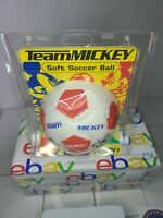 """Disney Team Mickey Soccer Ball Red And White 5"""" Hutch Sporting Goods Vintage"""