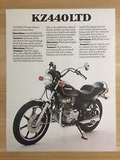 Vintage 1980 Kawasaki KZ440LTD KZ440 Motorcycle - Two Page Original Color Ad
