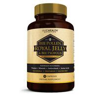 Vivid Health Nutrition Potent ROYAL JELLY BEEPOLLEN Supplement w/ BEE PROPOLIS.