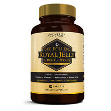 Vivid Health Nutrition Potent ROYAL JELLY BEEPOLLEN Supplement w/ BEE PROPOLIS.