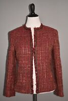 LAFAYETTE 148 NEW YORK $598 Tweed Boucle Fringe Open Jacket Size 10