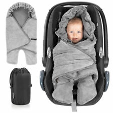 Baby Einschlagdecke mit Füßen - Sommer - leichte Decke für Babyschale Maxi Cosi
