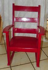 Walnut Red Painted Child Rocker / Rocking Chair  (R170)