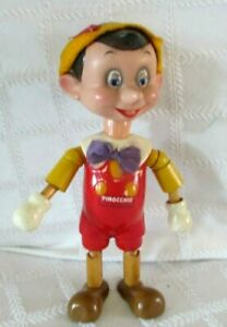 """1939-WALT DISNEY-PINOCCHIO -IDEAL NOVELTY TOY CO- 10.5""""- WOOD-COMPOSITION-DOLL"""