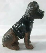 "Retired Homies mini figure 2006 figurine brown black 2"" tall Terrier Schnauzer"
