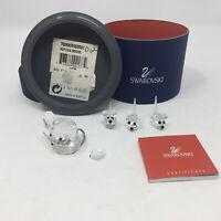 Swarovski Crystal Figurine Replica Mouse Set of 3 Plus 1 Large Mouse DAMAGED
