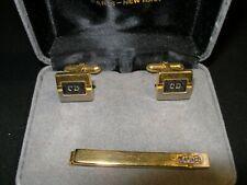 Vintage Christian Dior Cuff Link and Tie Bar Box Set