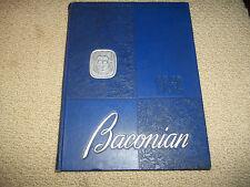"1952 BRIDGETON HIGH SCHOOLYEARBOOK BRIDGETON NJ BRIDGETON NEW JERSEY ""Baconian"""