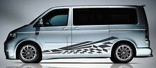 VOLKSWAGEN Transporter/Caravelle T5/T6 Flash Bandera De Panel Lateral Decal Sticker Set