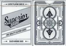 Superior Brand Silver Arrow Back Playing Cards Poker Size Deck EPCC Custom New