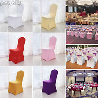 Chair Covers Spandex Lycra Wedding Banquet Anniversary Party Venue Decor