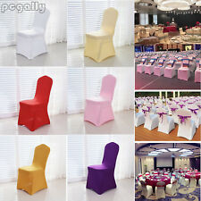 1/4/10 Chair Covers Spandex Lycra Wedding Banquet Anniversary Party Venue Decor