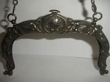 Antique Gorham sterling silver art nouveau purse frame chatelaine aesthetic