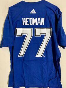 ADIDAS NHL T-SHIRT TAMPA BAY LIGHTNING VICTOR HEDMAN BLUE SIZE XL