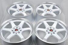 17 white wheels MR2 Corolla Miata Civic Sonata Elantra Accord 4x100 4x114.3 Rims