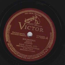 Louis Jensen on 78 rpm Victor 17920: Malinconia (Sibelius)(in 2 parts)