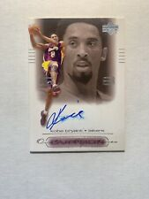 2000-01 Upper Deck Ovation Signatures Kobe Bryant Auto #KB On Card Autograph