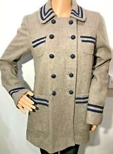 Topshop wool blend fitted Lolita style coat Japanese fashion size 8 wool