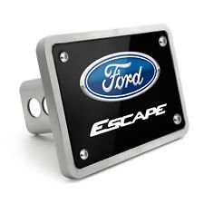 Ford Escape UV Graphic Black Plate Billet Aluminum 2 inch Tow Hitch Cover
