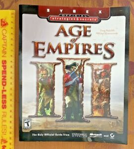 AGE OF EMPIRES III SYBEX OFFICIAL COMPREHENSIVE STRATEGY GAME GUIDE PC EXC!!!