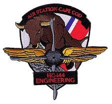 IRON-ON Air Sta Cape Cod HC-144 Engineering bull W5543 USCG Coast Guard patch
